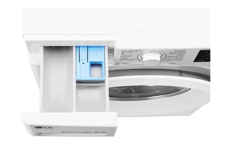 Die Waschleistung der smarten F14WM 8LN0 Waschmaschine kann durchaus überzeugen