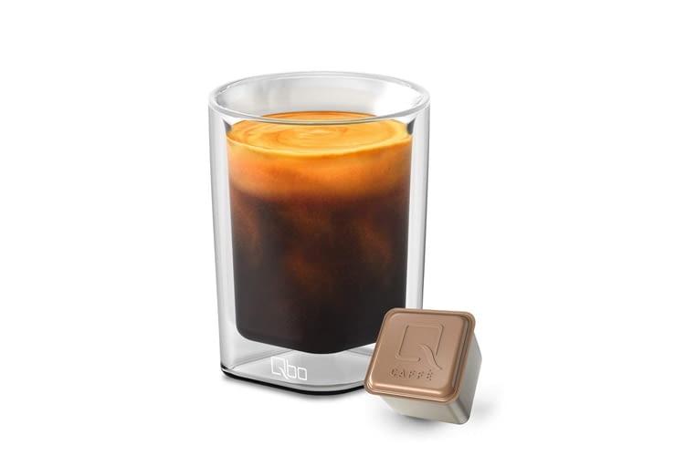 Tchibo bietet sogar verschiedene Gläser speziell für Qbo Kaffee
