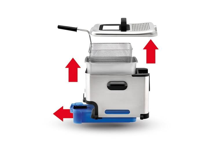 Praktisch: Alle Teile, bis auf das elektrische Bedienelement, sind spülmaschinengeeignet