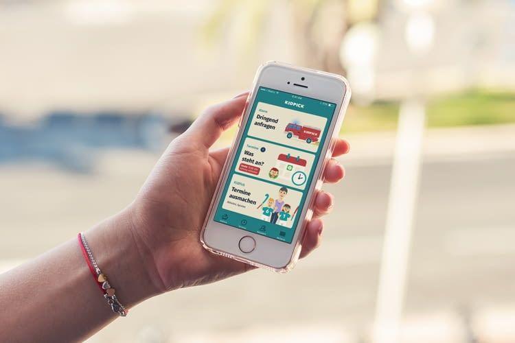 Die KidPick-App ist kostenlos, Dringende Anfragen kosten allerdings 99 Cent