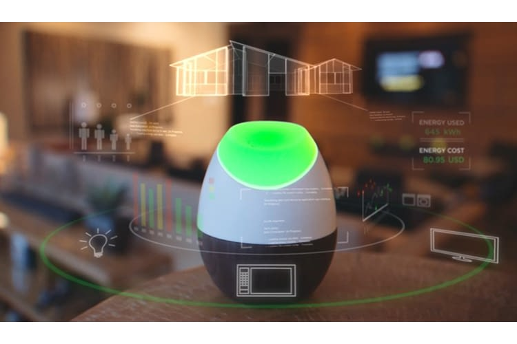 Der Glow Echt-Zeit-Energietracker stimmt sich auch mit Philips Hue ab