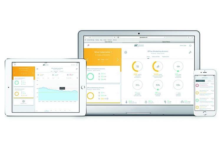Dank Cloud-Technik und mobiler Apps lassen sich die Airgloss-Lösungen auch von unterwegs nutzen