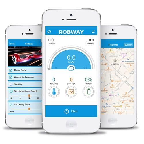 Mit der TaoTao (Plus)-App lässt sich Robway W3 steuern und analysieren