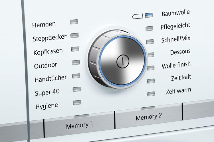Dem Nutzer stehen beim  iQ800 Wärmepumpentrockner WT7YH701 viele Optionen zur Auswahl