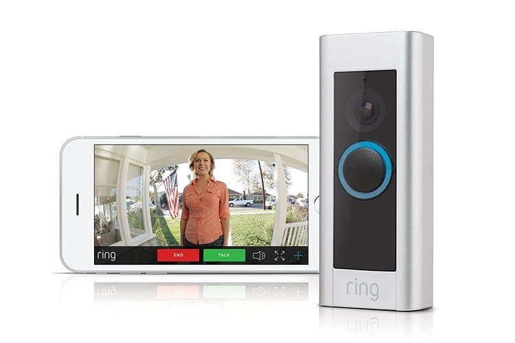 Unterwegs sind die Aufnahmen der Ring Video Doorbell Pro am Smartphone abrufbar