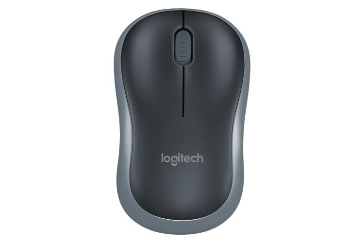 Die Logitech M185 ist kabellos und verbindet sich via 2,4 GHz WLAN mit dem Computer