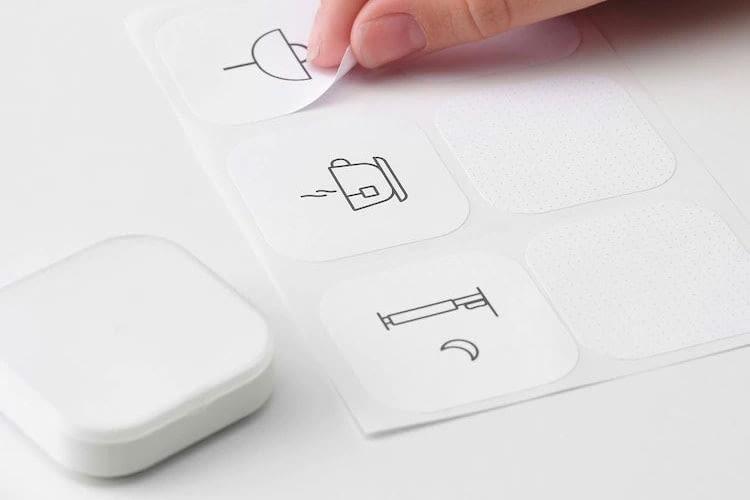 Der IKEA Shortcut Button kann mit Etiketten versehen werden, so dass die verbundene Szene schnell erkennbar ist