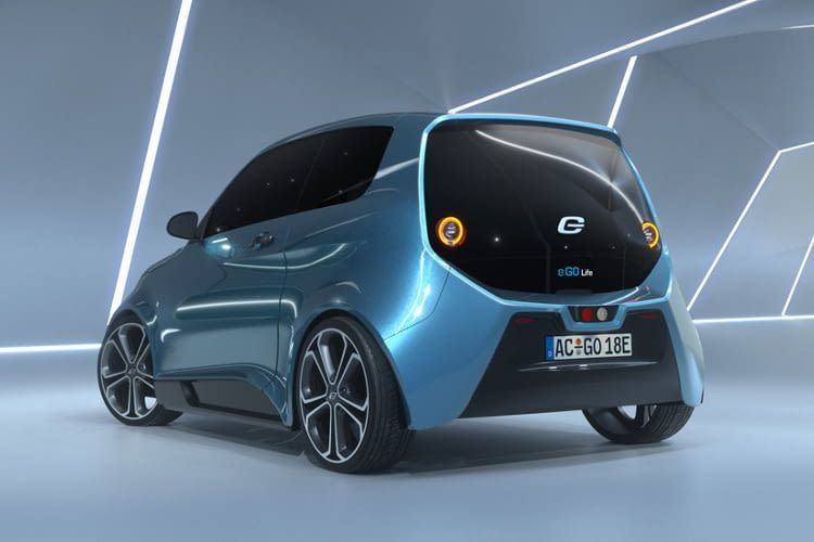 Das Elektroauto e.GO Life ist als ein sportlicher und sparsamer Stadtflitzer konzipiert.
