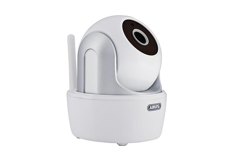 Die ABUS WLAN-Sicherheitskamera ist ein Basismodell mit einfacher Installation und vielen Extras, wie microSD-Karten-Slot