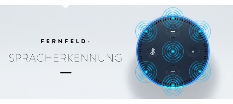 Amazon Echo Dot registriert Sprachbefehle