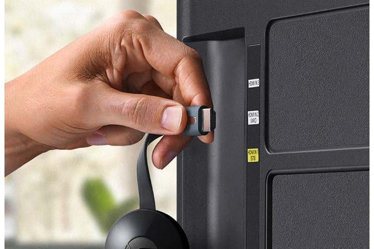 Für die Verbindung von Assistant mit dem Fernseher benötigt Chromecast einen HDMI-Anschluss