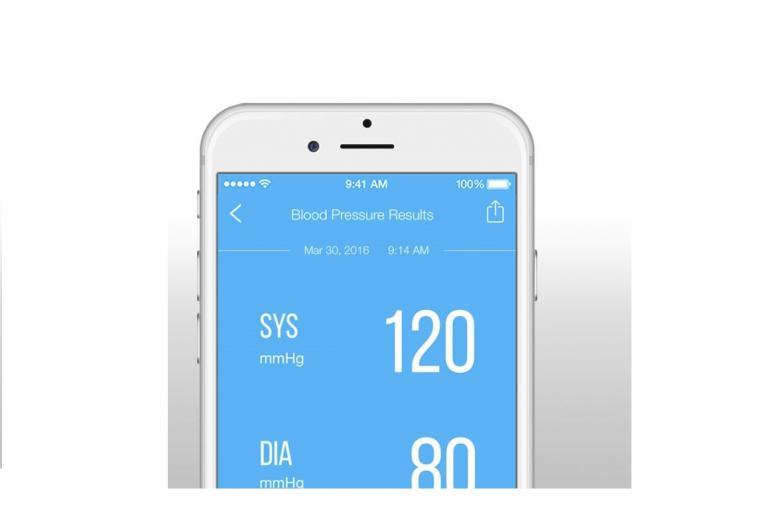 Zum Blutdruckmessgerät View gibt es auch eine App