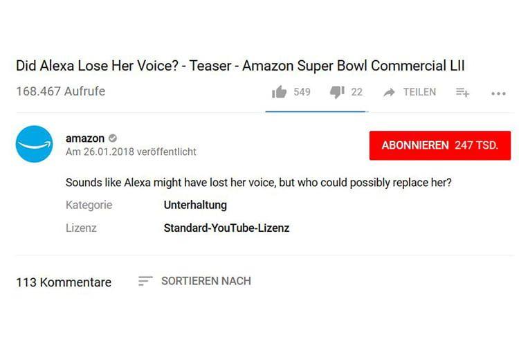 Amazon macht mit seinem Super Bowl-Werbespot neugierig auf neue Alexa-Stimmen