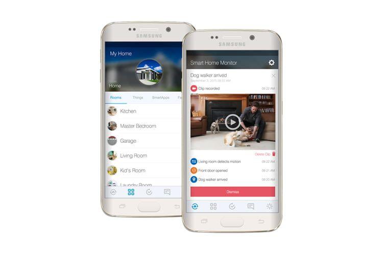 Per Samsung SmartThings App lassen sich alle Ereignisse zuhause im Blick behalten