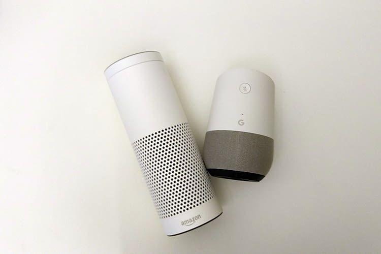 Google Home und Amazon Alexa bieten sich im Vergleich ein Kopf-an-Kopf-Rennen