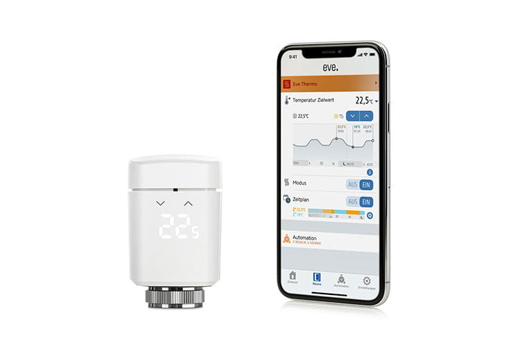 Eve Thermo verbndet sich via Bluetooth mit der Apple HomeKit Steuerzentrale