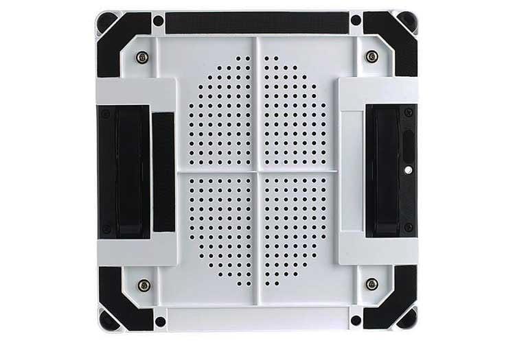 Über die Löcher auf der Unterseite von Sichler PR-041 V3 wird die Luft angesaugt, so dass ein Unterdruck entsteht