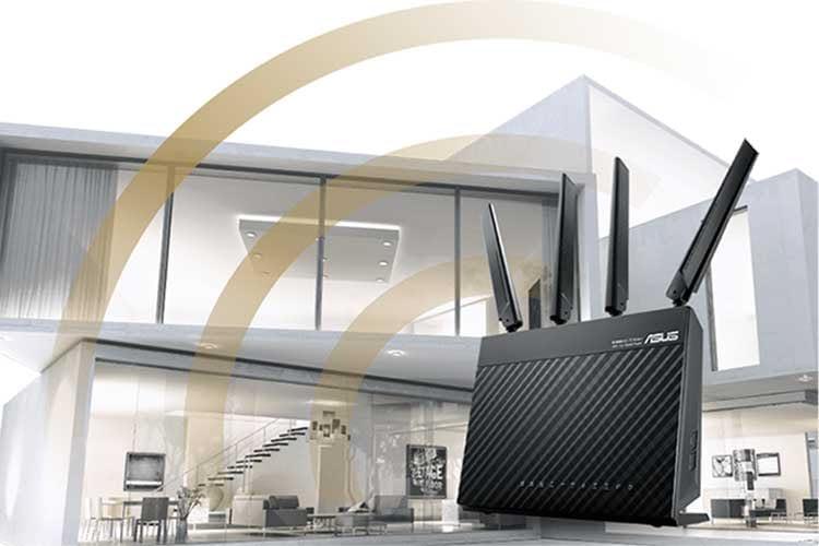 Der stationäre LTE Router Asus 4G-AC68U bietet Dualband WLAN und ist Mesh-fähig