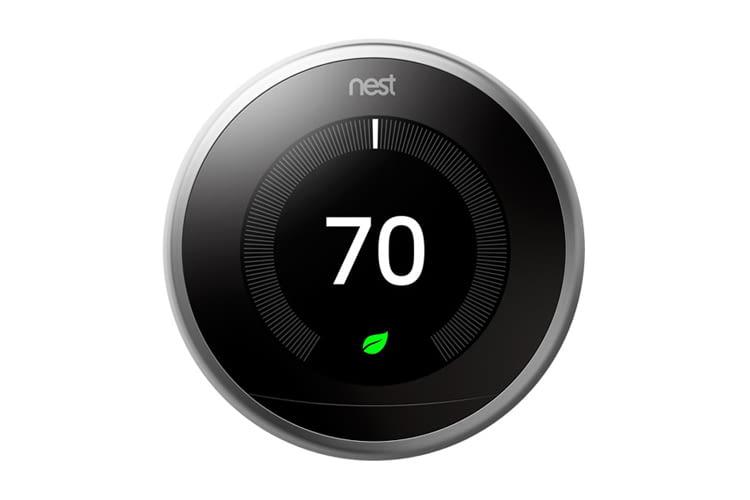 Ein Nest Thermostat lässt sich auch ohne Google Home zur Smart Home Steuerung nutzen