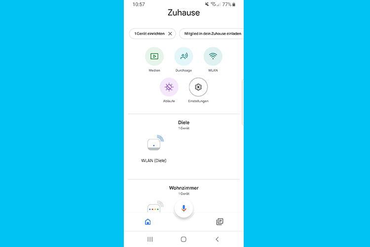 Per Google Nest Wifi App hat man jederzeit den Überblick über das Mesh System und Smart Home