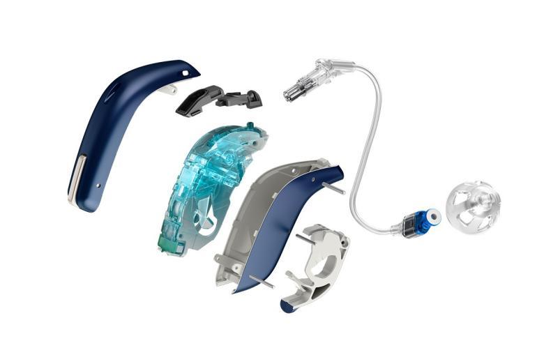 Aufbau des Opn Hörgeräts von Oticon