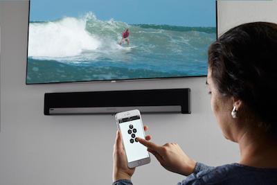iHaus App zur Steuerung der Sonos Playbar auf einem Samsung Smart TV