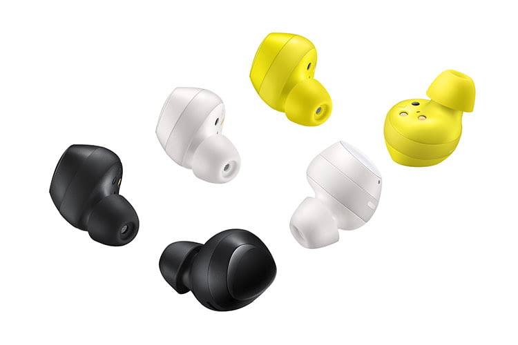 Samsung Galaxy Buds sind in den Farben schwarz, weiß, gelb und silber verfügbar