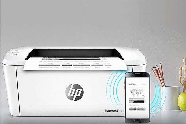 Die Installation und Bedienung von HP LaserJet Pro M15w erfolgt via der HP Smart App