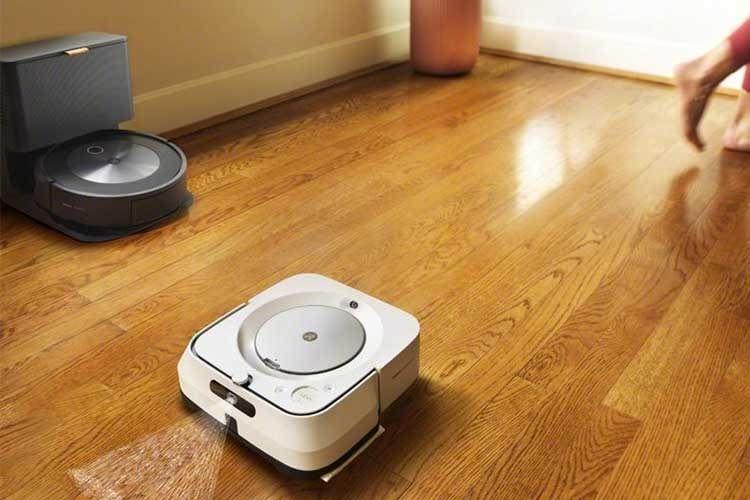 iRobot Roomba j7+ arbeitet mit iRobot Braava m6 zusammen und sorgt im Duo für saubere Böden