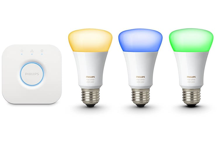 Philips Hue White & Color Ambiance E27 LED Lampe Starter Set