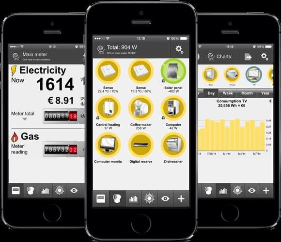Abbildung der Plugwise App - Verbrauchsanzeige