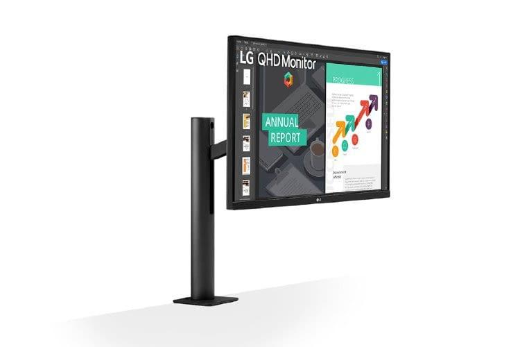 Der 27 Zoll Monitor LG 27QN880-B bietet maximale Bewegungsfreiheit