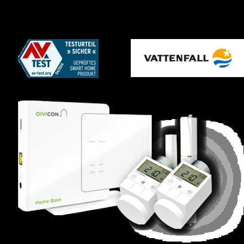 Vattenfall Qivicon HomeBase Wärmepaket für das Smart Home