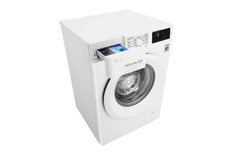 Die LG F14WM8LN0 kann mit Wäscheladungen von 1-8 Kilogramm beladen werden