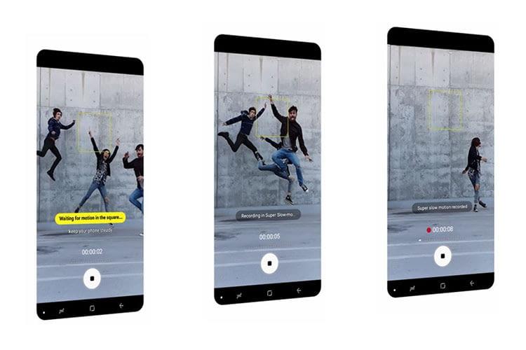 Die Super-Zeitlupen-Funktion des Galaxy S9 erlaubt aufmerksamkeitsstarke Video-Clips