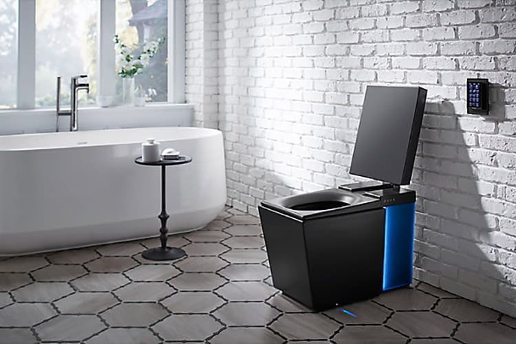 Optisch noch ausbaufähig ist die smarte Toilette von KOHLER