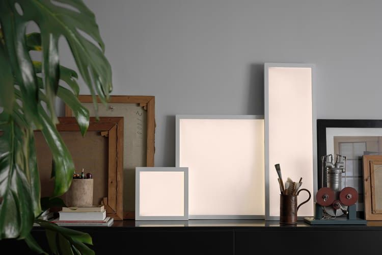 Zum IKEA Sortiment gehören auch smarte Lichtpaneele