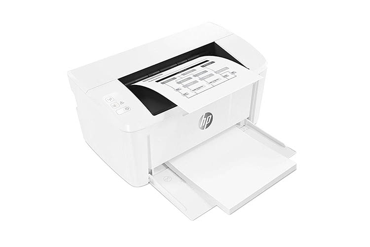 Der Monochrome-Laserdrucker HP LaserJet Pro M15w benötigt nur wenig Platz