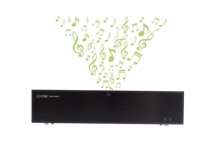 Der LoxoneMusicServer ermöglicht akustische Sprachausgabe