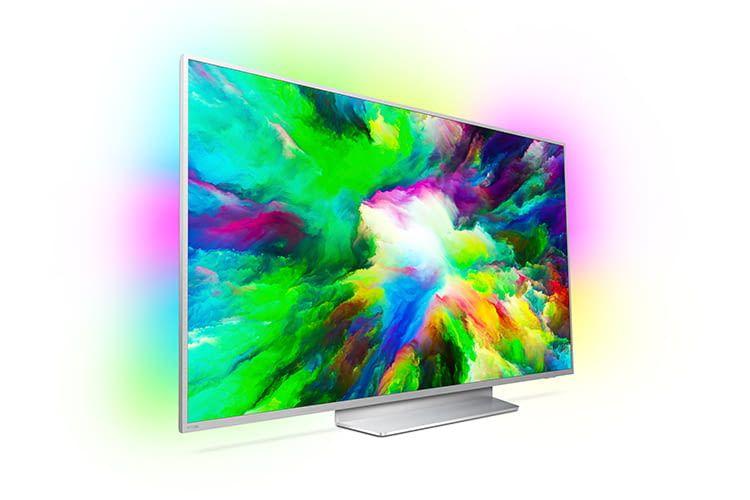 Das Philips LCD Android-TV-Gerät 803 benötigt mit einer Displaygröße von 75 Zoll ein großes Wohnzimmer