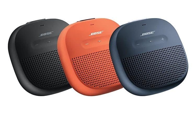 Der portable Bluetooth-Lautsprecher BOSE SoundLink Micro ist in drei verschiedenen Farben erhältlich