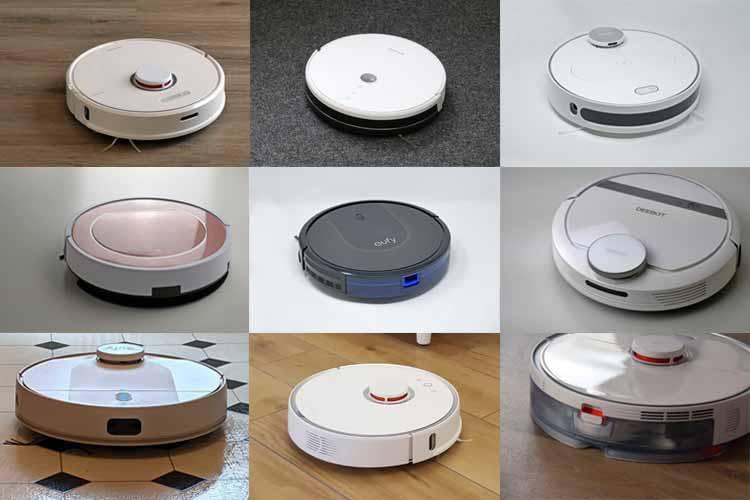 Hier sind einige der Saugroboter-Modelle zu sehen, die wir bereits getestet haben