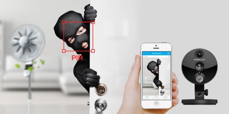 Foscam C2 HD IP Sicherheitskamera erkennt Eindringlinge (auch wenn sie keine Maske tragen)