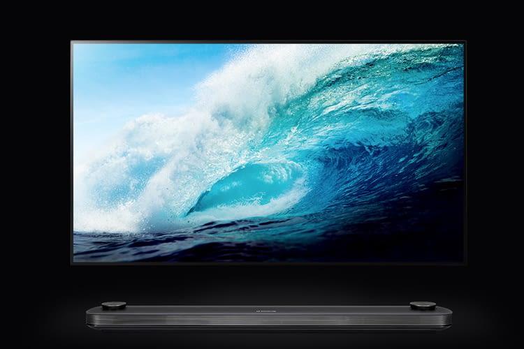 Die Signature Modelle von LG sind die aktuell dünnsten Smart TVs