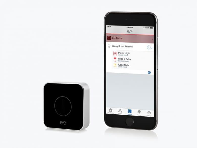 Der Elgato Eve Button kann via Apple Home App oder der eigenen Elgato Eve App bedient werden