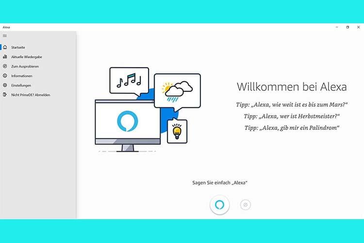 In der Alexa-App für Windows kann das Aktivierungswort für den Hands-free-Modus aktiviert werden