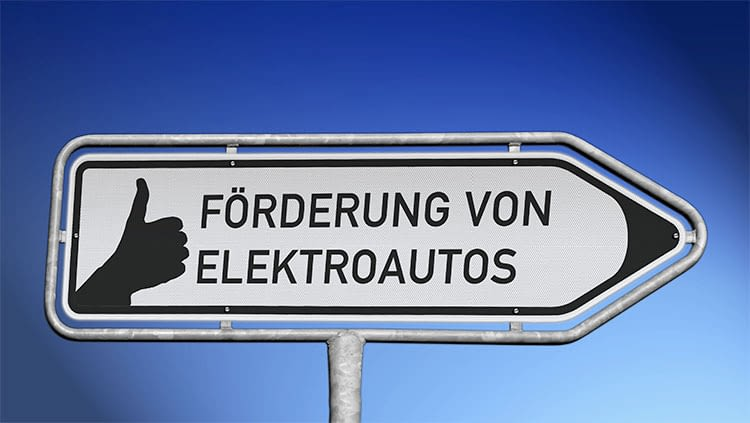 Die Bundesregierung fördert mit einer Umweltprämie den Kauf von Elektroautos.