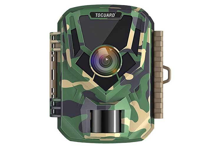 Die TOPGUARD H20 Mini Wildtierkamera verfügt im Gehäuseinneren über ein 2 Zoll Display