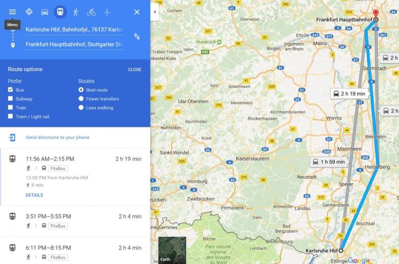 Flixbus nach längerer Beziehungspause wieder in GoogleMaps integriert