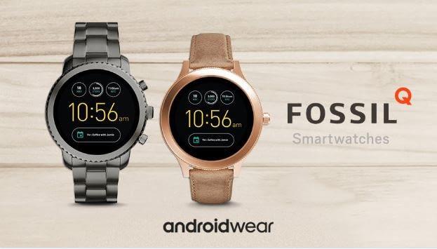 Armbänder und Rahmen frei wählen. Auch bei Fossils Smart Watches